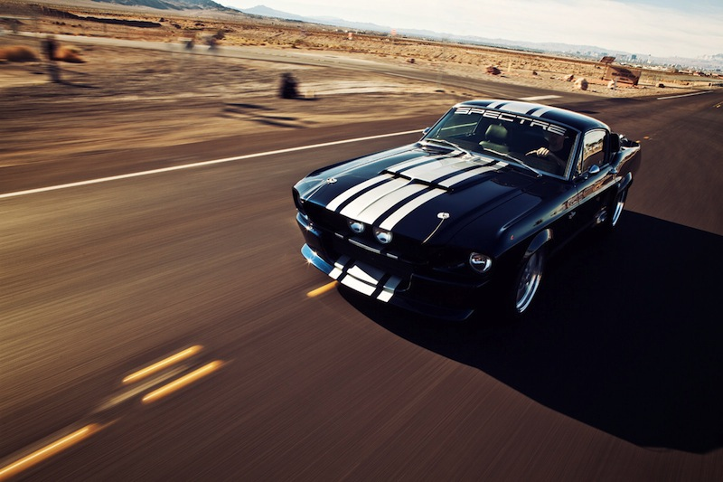 1967 Shelby GT500 - Classic Recreation 900S … Eleanor, la vraie !route desert dessus
