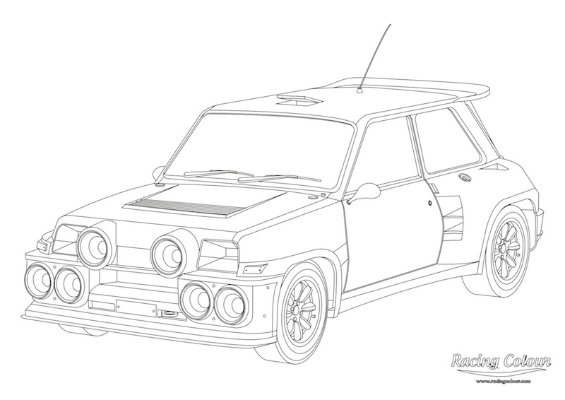 drift car drawings pages sketch coloring page