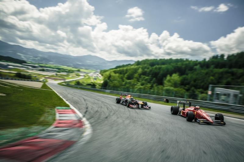 Sebastian Vettel and Gerhard Berger - Action