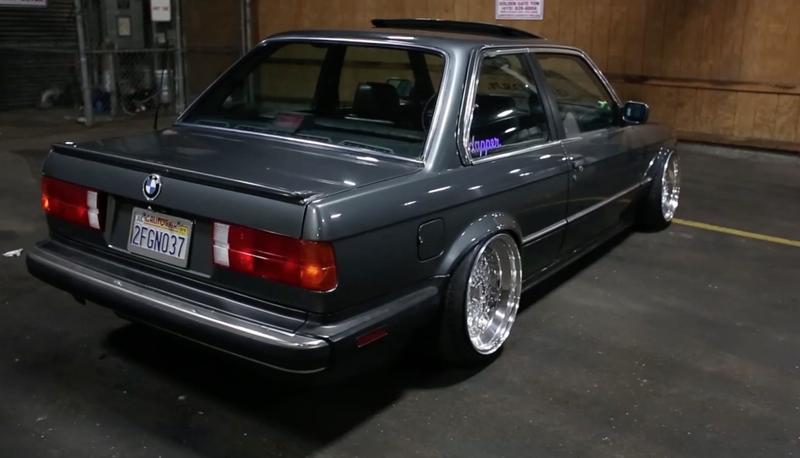 DLEDMV BMW E30 V8 LS1 BBS & airride 01