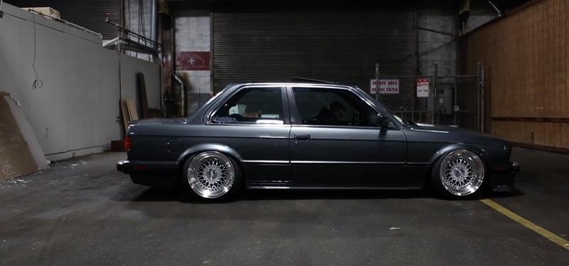 DLEDMV BMW E30 V8 LS1 BBS & airride 02