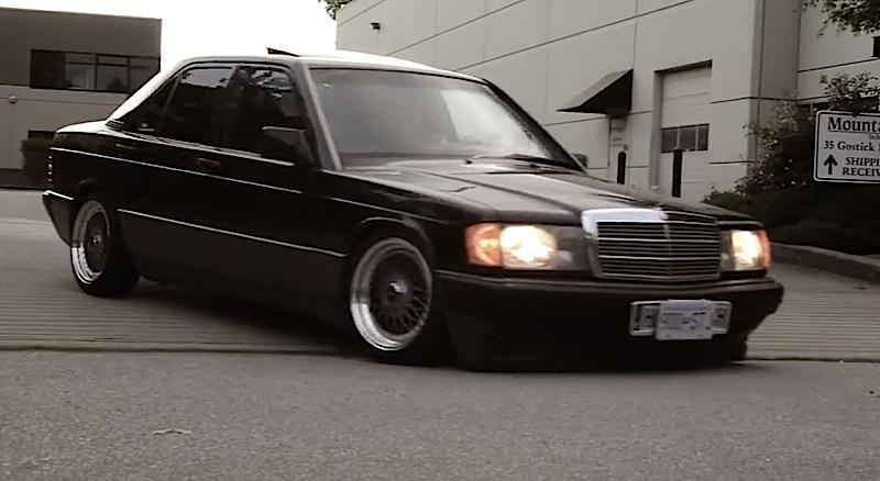 DLEDMV Mercedes 190 H&R & OEM 02