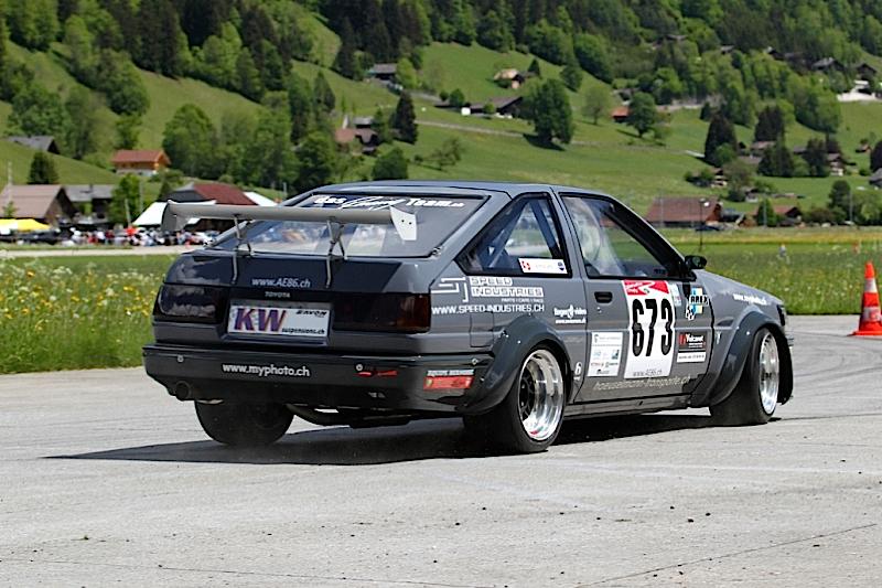 DLEDMV Toyota AE86 time attack slalom 03