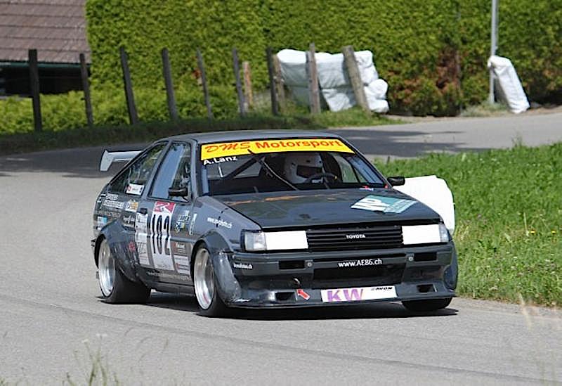 DLEDMV Toyota AE86 time attack slalom 04