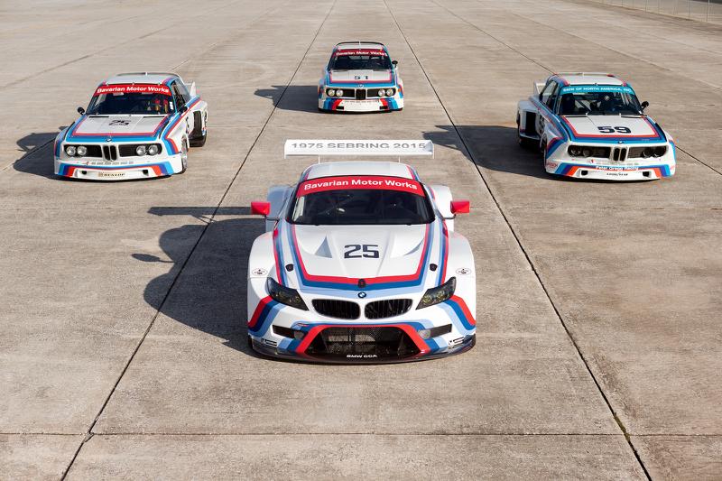 DLEDMV BMW Z4 GTLM & 3.0 CSL Sebring 17