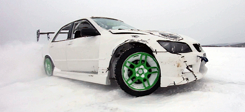 DLEDMV Lexus IS300 Drift on ice Jeff Laflamme 02