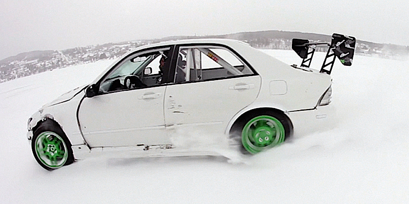 DLEDMV Lexus IS300 Drift on ice Jeff Laflamme 03
