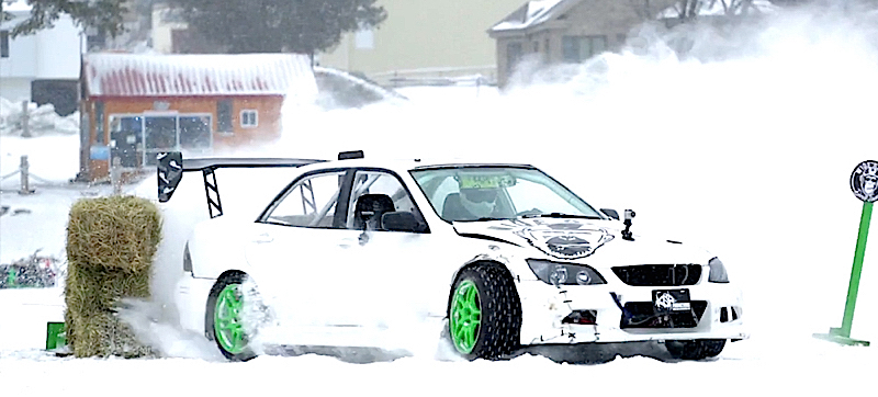 DLEDMV Lexus IS300 Drift on ice Jeff Laflamme 04