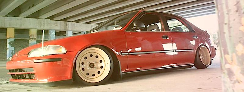 DLEDMV - Honda Civic EG Ferio Slammed - 01