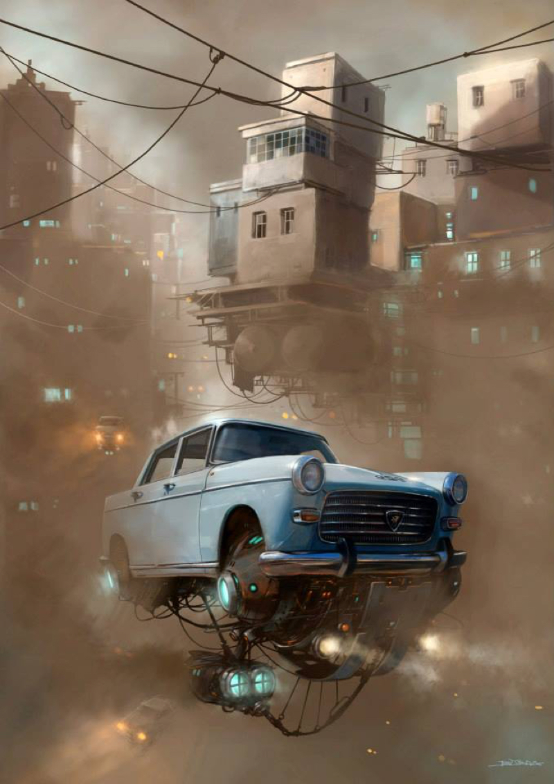 DLEDMV - Universe Scrap Flying Vintage Cars - 04