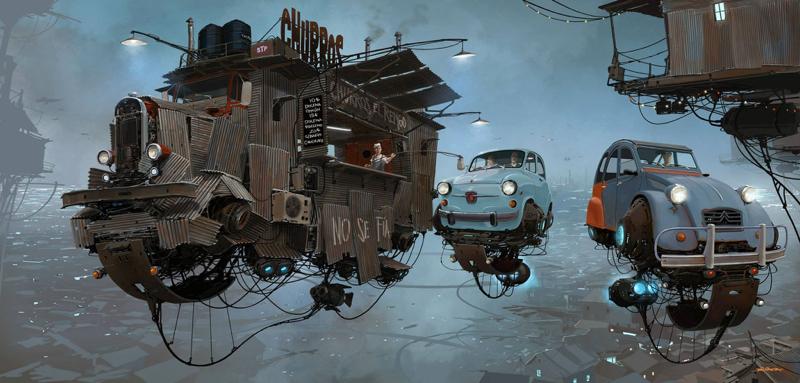 DLEDMV - Universe Scrap Flying Vintage Cars - 08