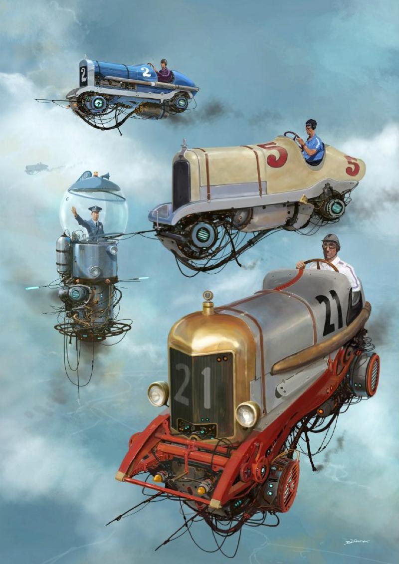 DLEDMV - Universe Scrap Flying Vintage Cars - 09
