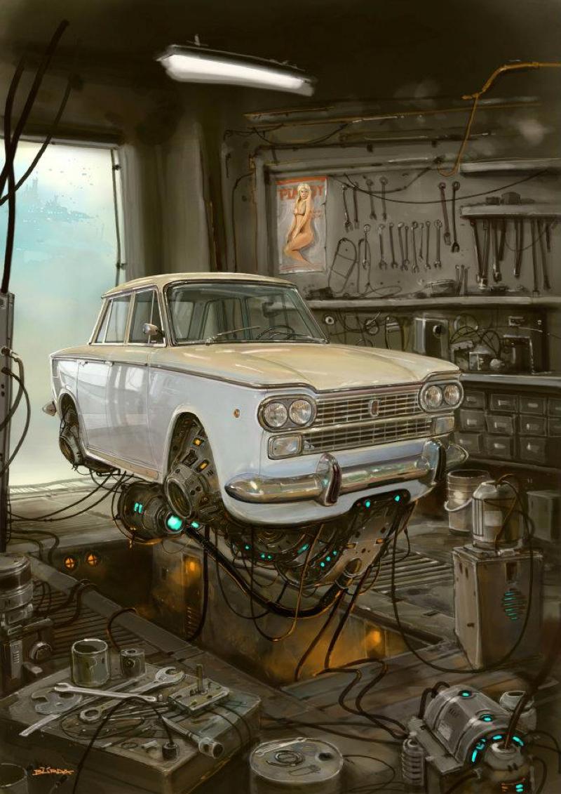 DLEDMV - Universe Scrap Flying Vintage Cars - 23