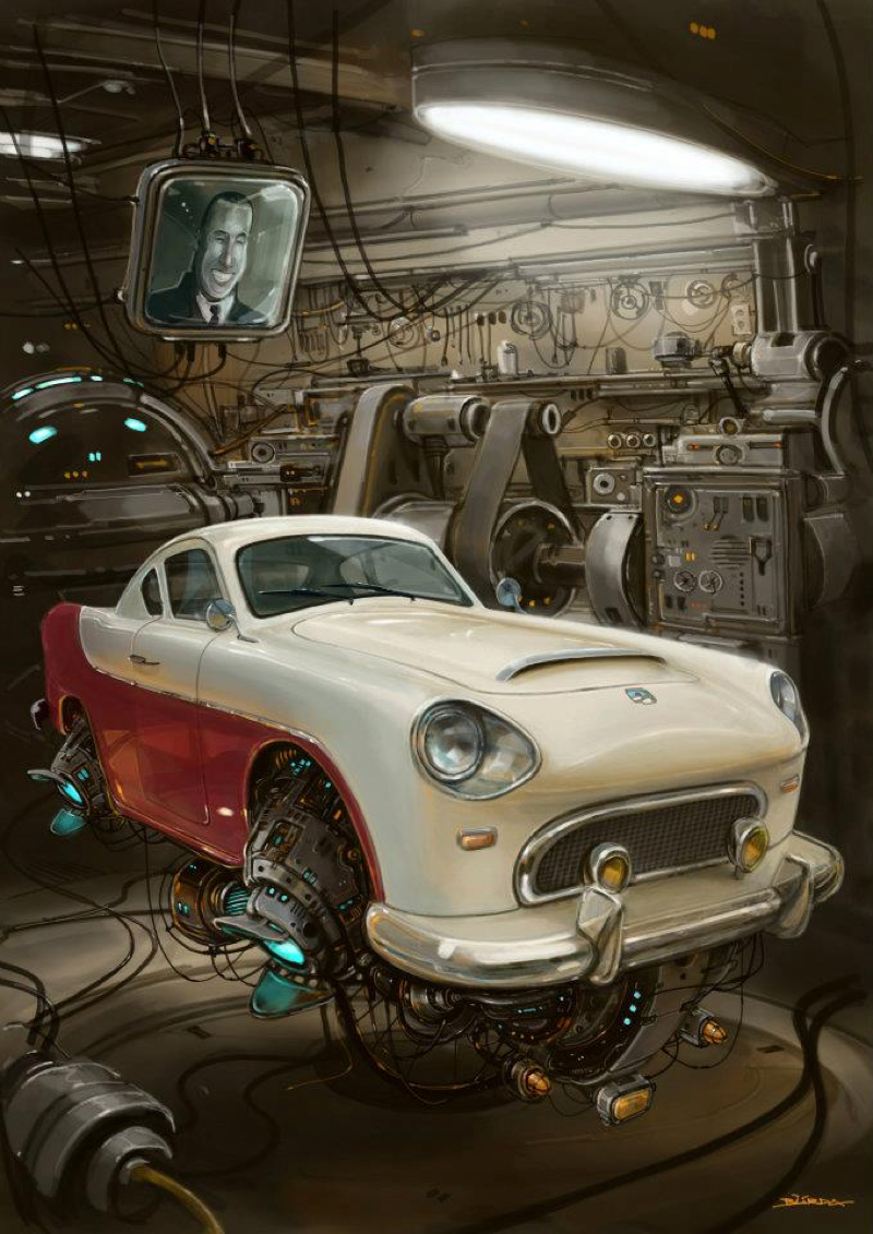DLEDMV - Universe Scrap Flying Vintage Cars - 24