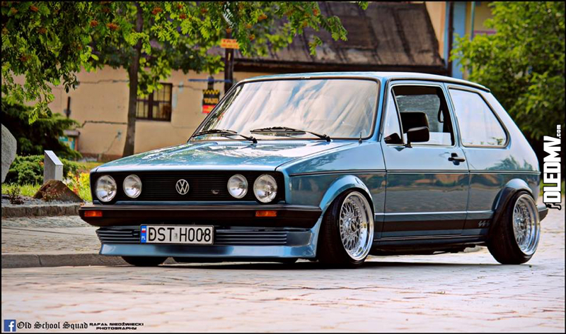 DLEDMV - VW Golf 1 blue full BBS - 003