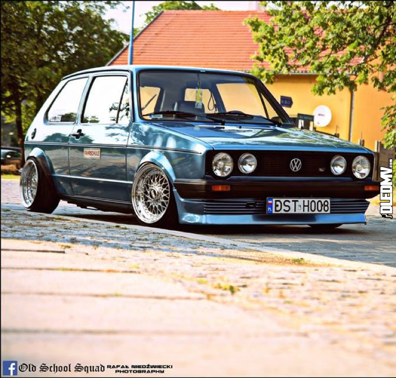 DLEDMV - VW Golf 1 blue full BBS - 04
