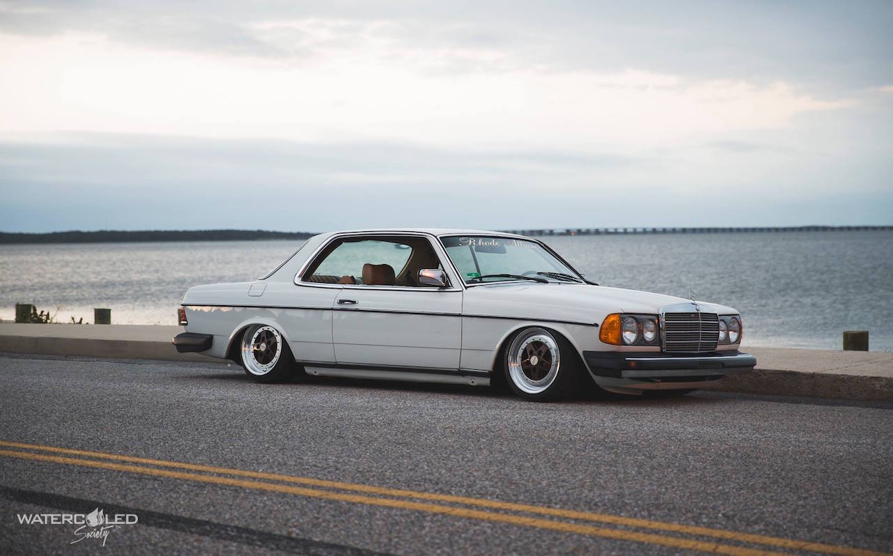 Mercedes 280 CE bagged... My classic is fantastic ! 2