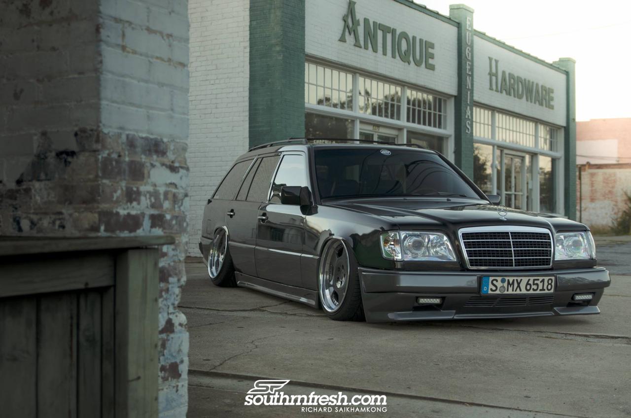 Bagged Mercedes 300TE-24 : Air-moire normande ! 16