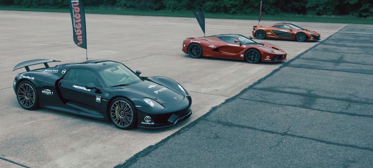 McLaren P1 vs LaFerrari vs Porsche 918 : Le Drag Race encore plus ultime ! 3