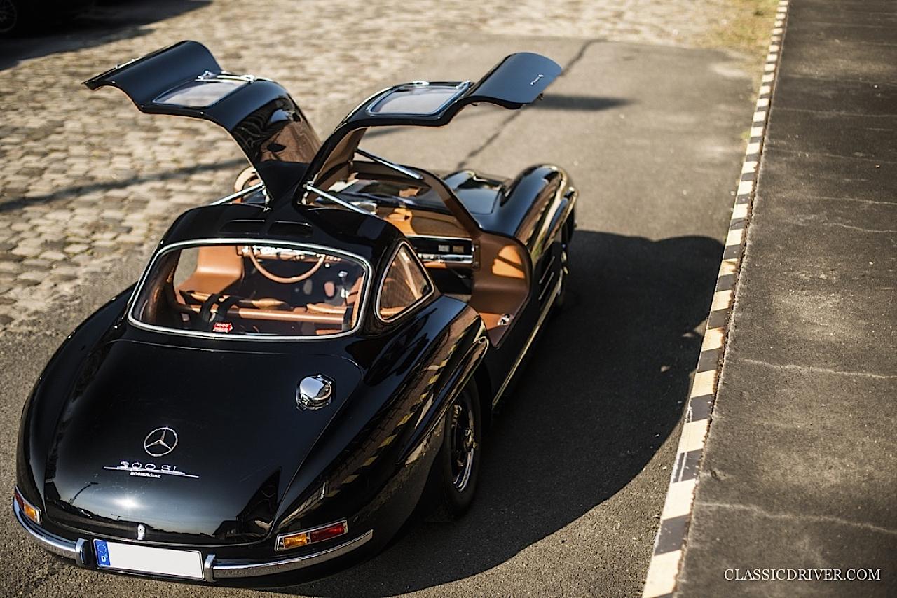 Mercedes 300 SL outlaw... en top chop et side pipe ! 93