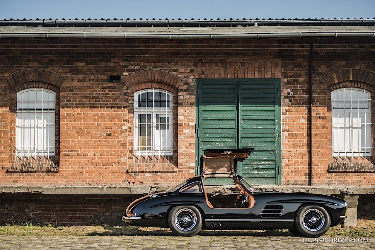 Mercedes 300 SL outlaw... en top chop et side pipe ! 126
