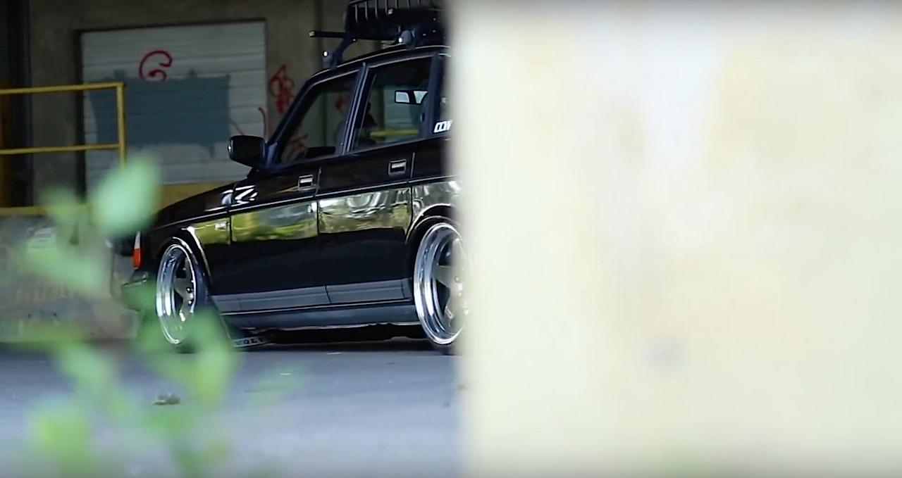 Slammed Volvo 240 - Blake in black ! 7