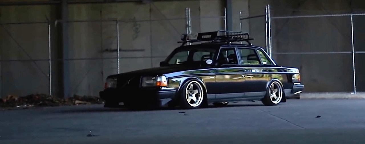 Slammed Volvo 240 - Blake in black ! 9