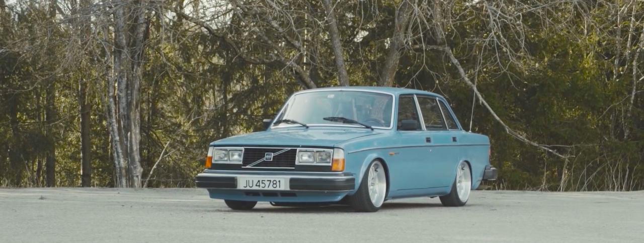 Slammed Volvo 240... Diesel mais belle... mais diesel ! 8