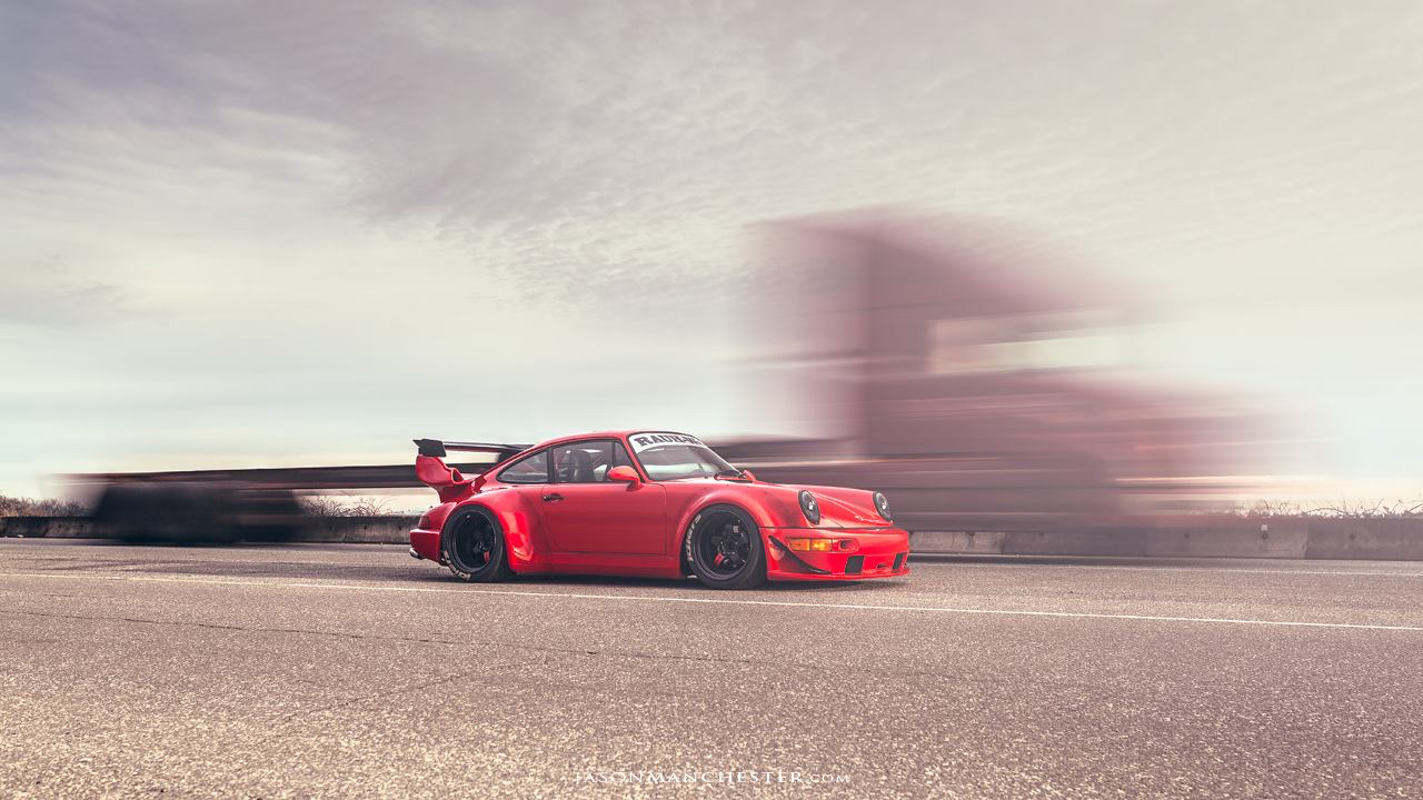 "Seattle Porsche 964 RWB : ""The Lady in red"" 10"