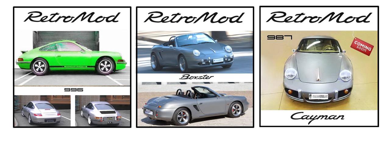 Porsche ItalSteelArt... Boxster + 356 = RetroMod ! 29