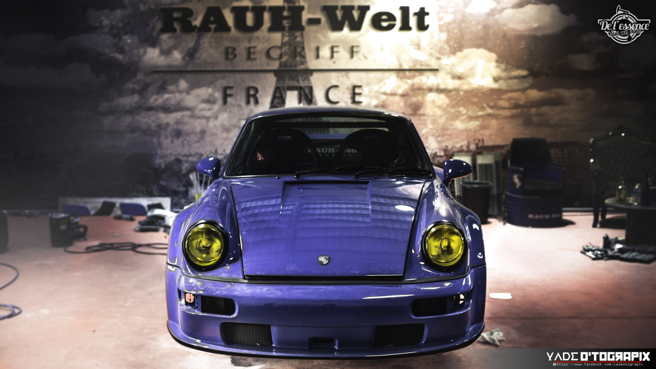 1ère Porsche 964 RWB France... Champagne ! 140