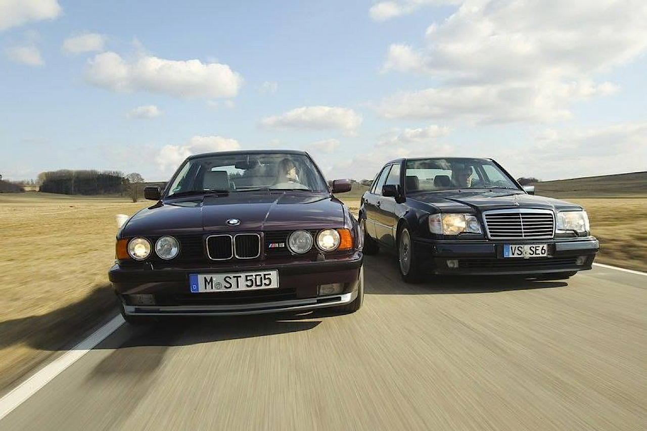 """The Street Fighters"" : Mercedes 500E vs BMW M5 E34 1"