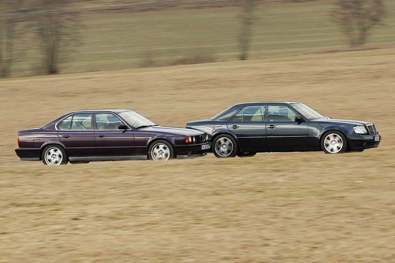 """The Street Fighters"" : Mercedes 500E vs BMW M5 E34 8"