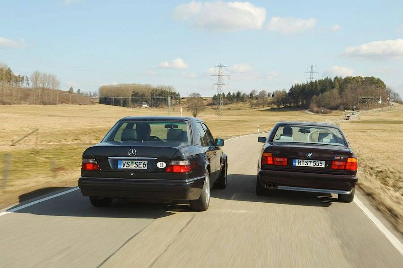 """The Street Fighters"" : Mercedes 500E vs BMW M5 E34 11"