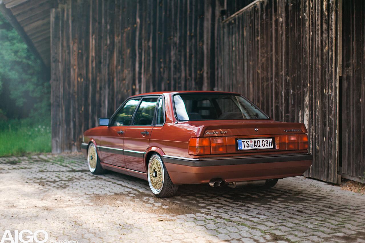 Audi 90 Quattro - Low & slow en BBS 28