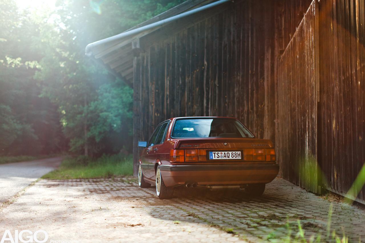 Audi 90 Quattro - Low & slow en BBS 14
