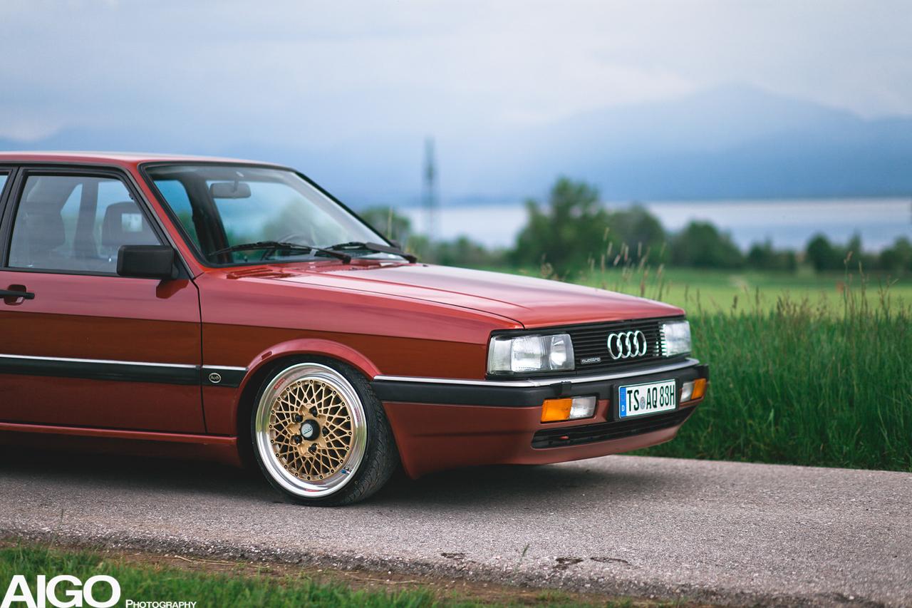 Audi 90 Quattro - Low & slow en BBS 1