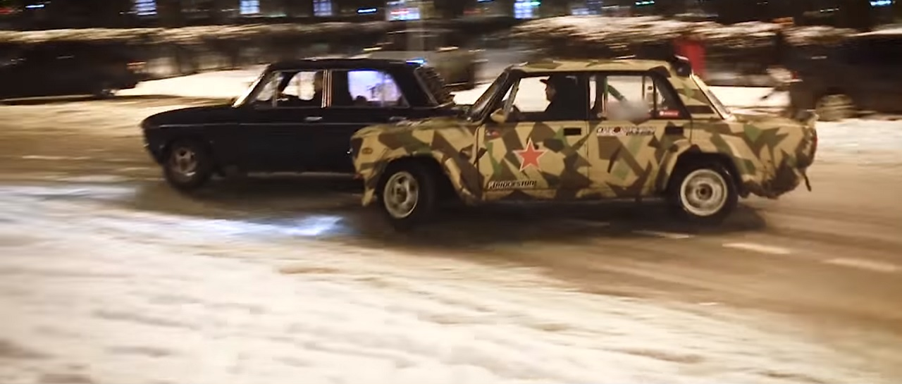 Lada Night Drifting - C'est normal en Russie ! 2