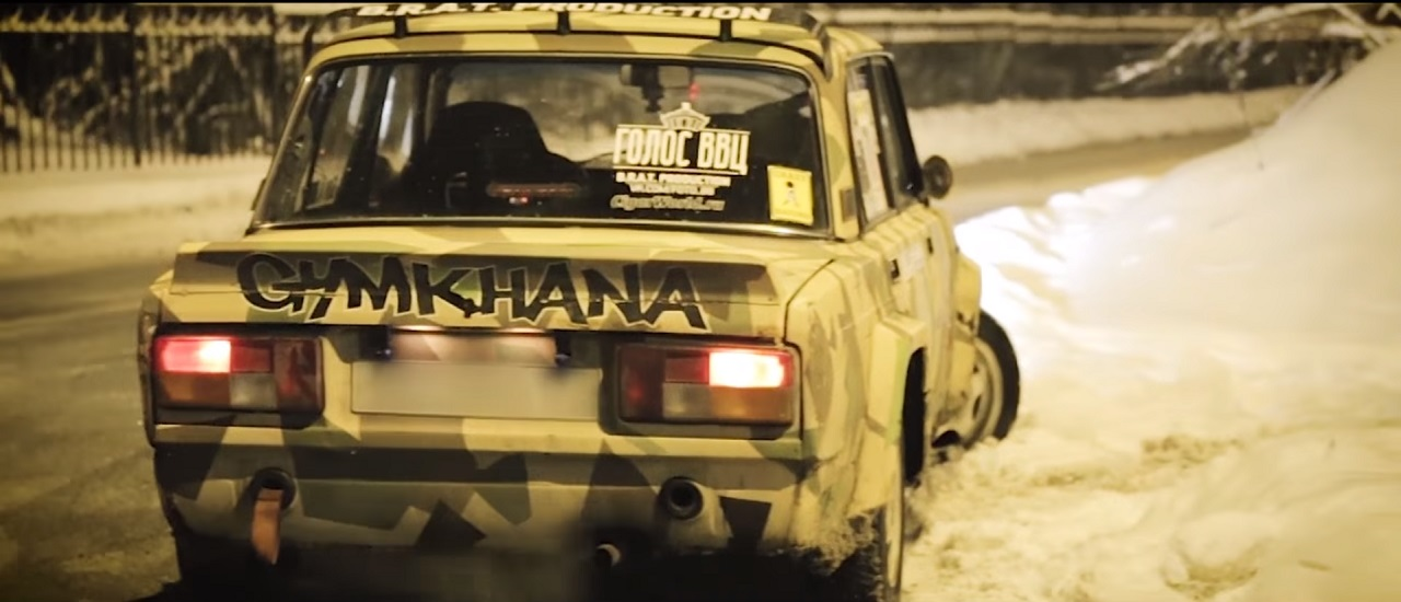 Lada Night Drifting - C'est normal en Russie ! 1
