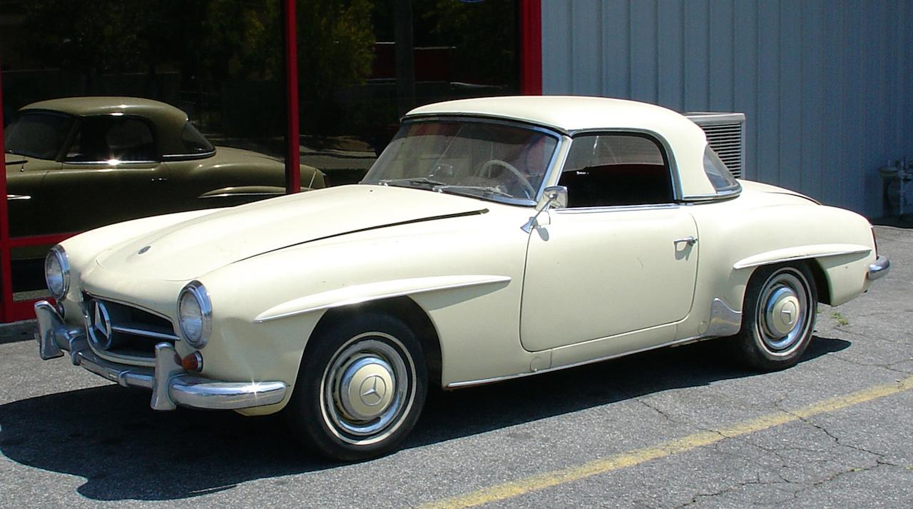 """'61 Mercedes 190 SL... La """"Mercedes Bent"""" un peu spéciale ! 30"""
