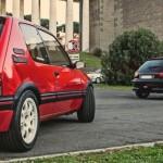 3 GTI françaises à Rome - 205 GTI - Clio 16v - 206 S16 3