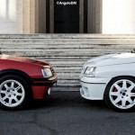3 GTI françaises à Rome - 205 GTI - Clio 16v - 206 S16 1