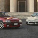 3 GTI françaises à Rome - 205 GTI - Clio 16v - 206 S16