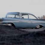 Slammed Chevy Biscayne 1959