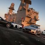 Des Maserati sur un porte-avions !