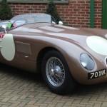 Monaco au volant de la Jaguar Type C de Fangio