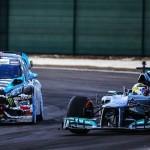 Ken Block & Lewis Hamilton font le show !