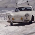 Jeff Zwart et sa Porsche 356 Pre-A - Drift on Ice