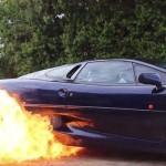 Une XJ220 qui met le feu !