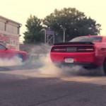 1414 ch dans une Challenger SRT ... Ça fait de la fumée !